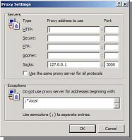 IE Proxy Settings