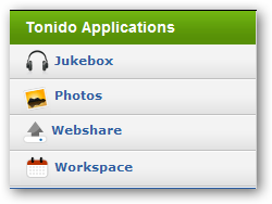 Tonido Application List