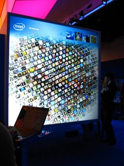 Intel's Touch Screen Demo