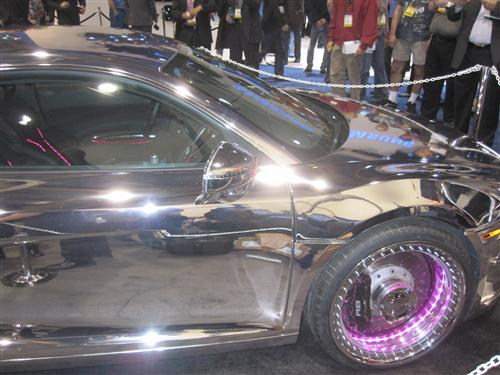 Tron Themed Car