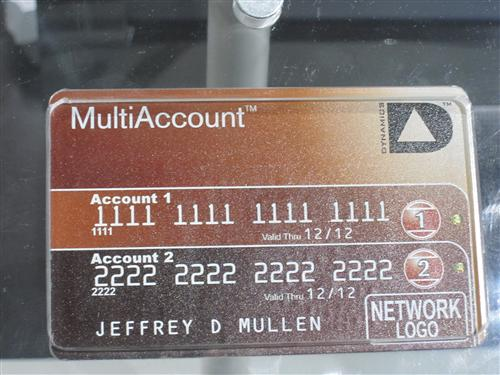 Multiple Credit Card Accounts in a single card