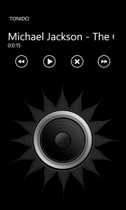 WP7 Music Player
