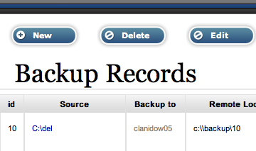 Tonido Backup Screenshot